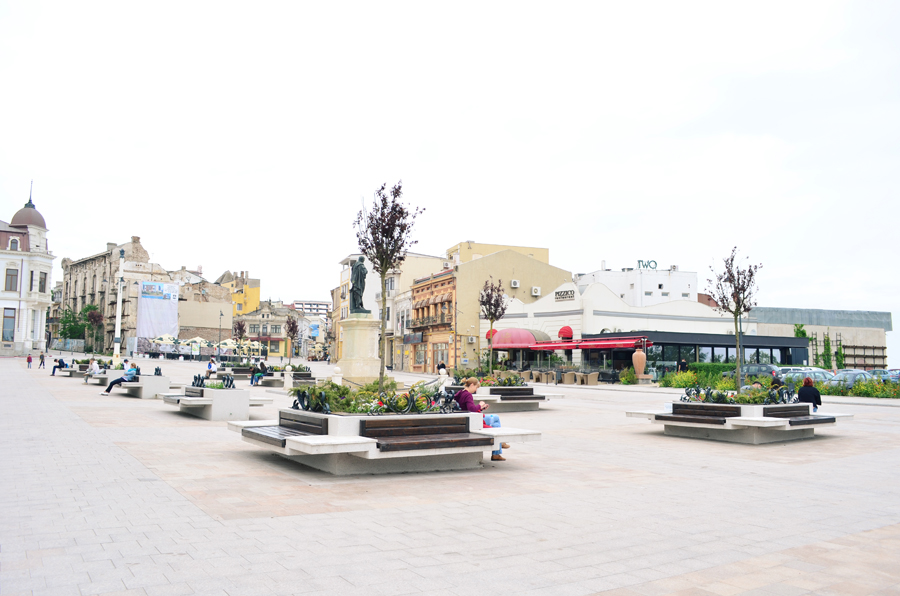 old town constanta piata ovidiu