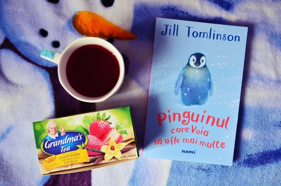 ceaiul bunicii capsune vanilie cartea pinguinul care voia sa afle mai multe