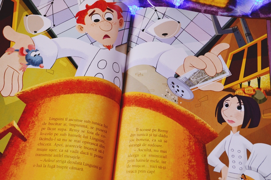ilustratii carte cu cd disney ratatouille editura litera
