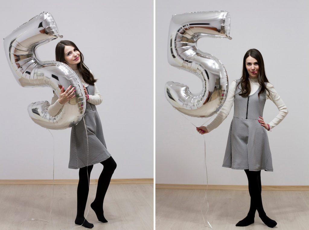 aniversare blogger 5 ani secretele cartilor balon argintiu cifra 5