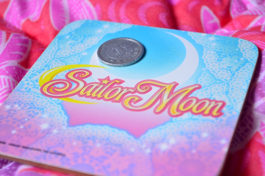 mug coaster sailor moon moneda 1 yen