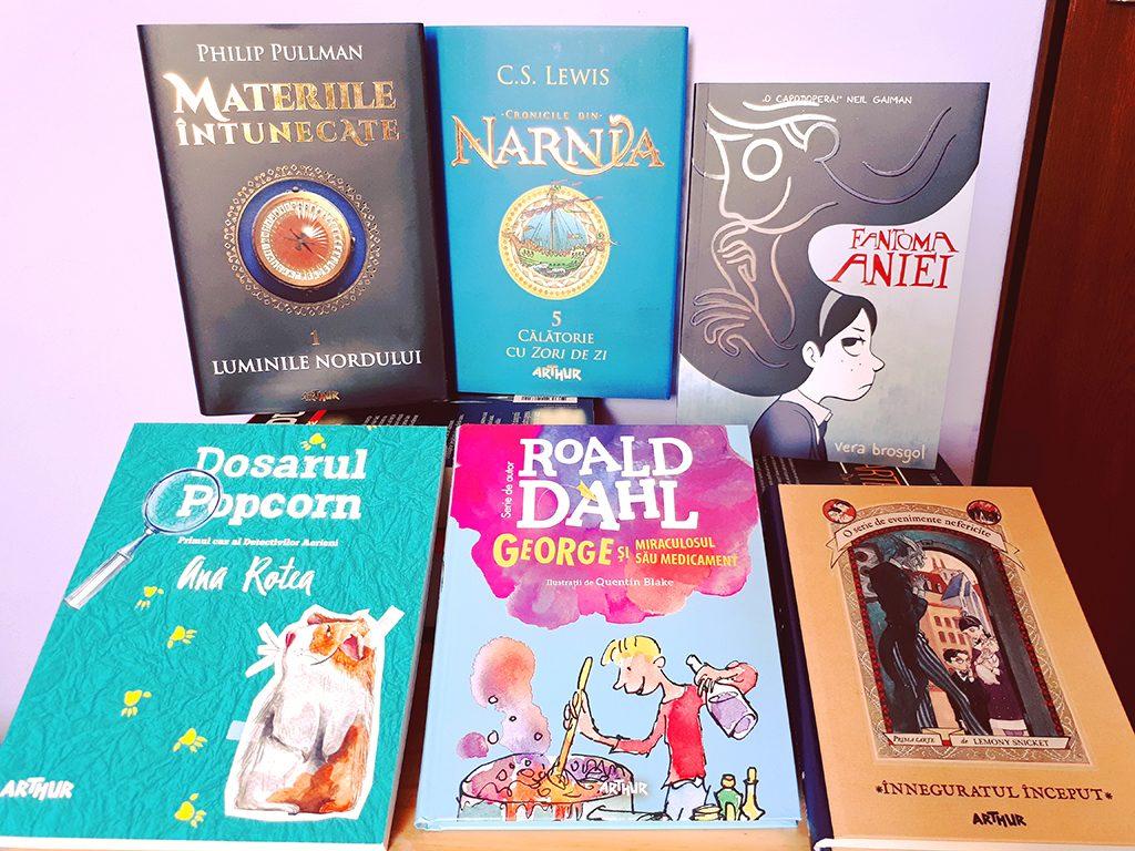 Book Haul Editura Arthur luminile nordului cronicile din narnia fantoma aniei dosarul popcorn george roald dahl lemony snicket