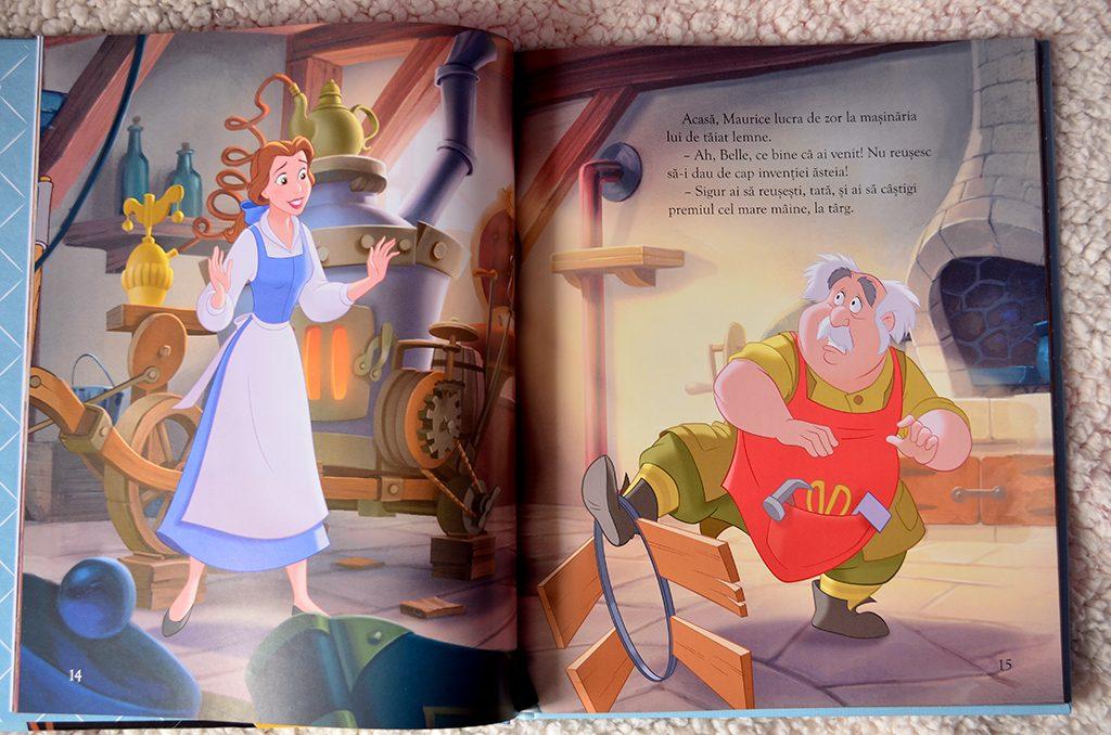 carte frumoasa bestia biblioteca ilustrata disney editie colectie