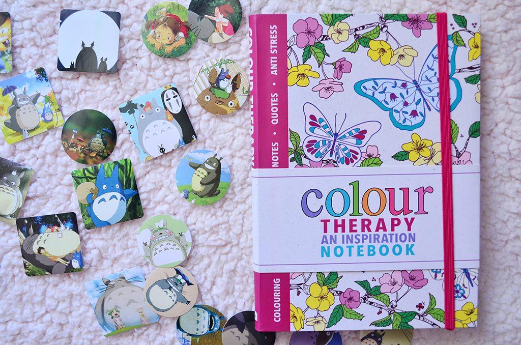 stickere totoro notebook colour me therapy