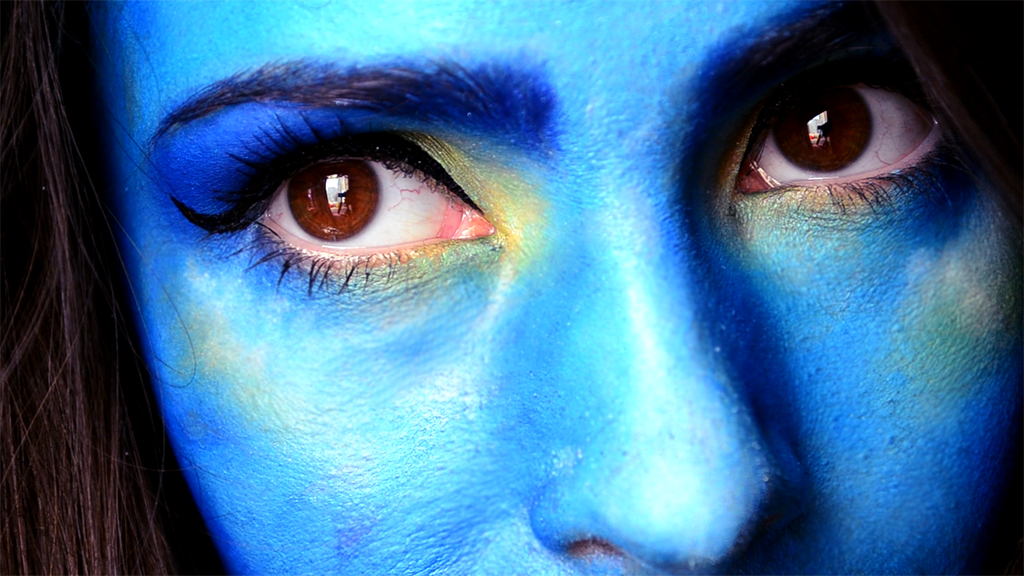 halloween makeup alien avatar guardians of the galaxy blue
