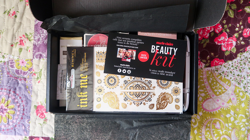 unboxing beauty kit marie claire vara 2018