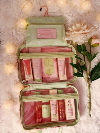 pixi beauty petra rose infused cosmetics travel bag