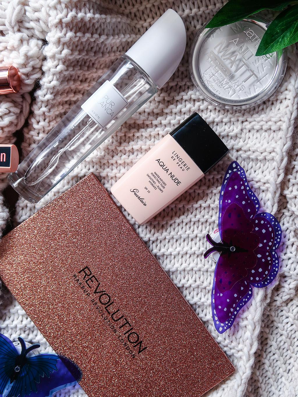 notino avon pur blanca parfum guerlain aqua nude fond ten makeup revolution paleta