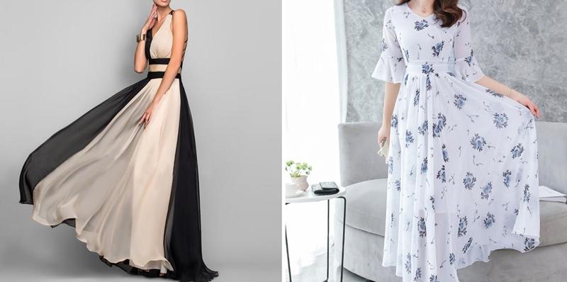 neer rochii ocazie lungi voal florale elegante