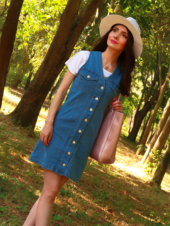 outfituri vara denim sarafan fusta blugi femme luxe