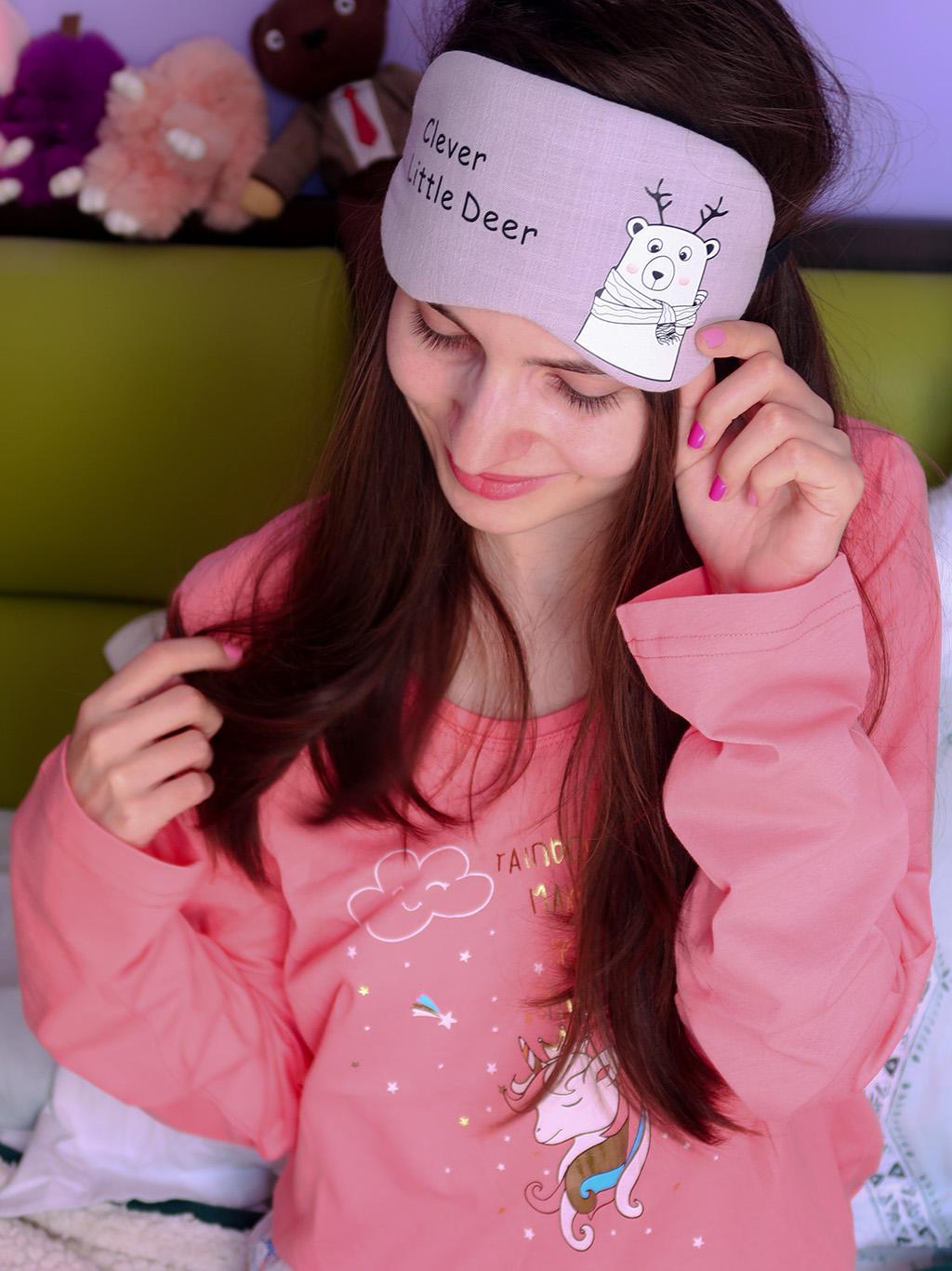 lady line pijamale pufoase toamna iarna masca somn dormit