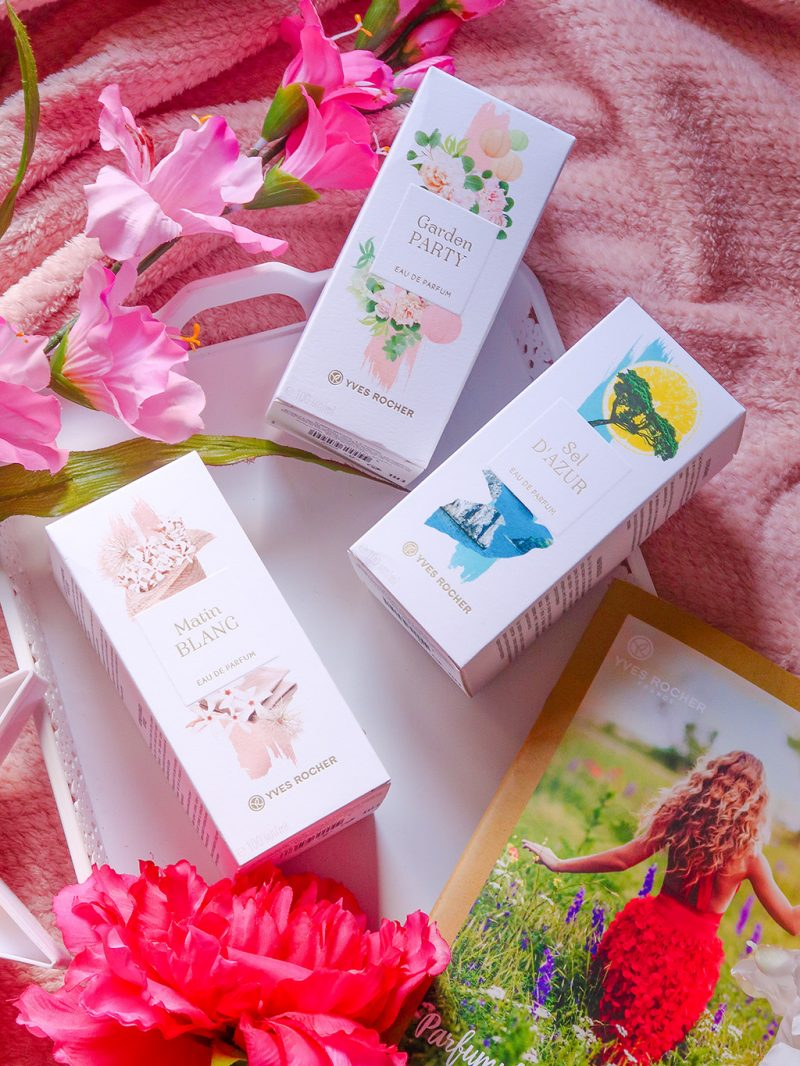 yves rocher la collection parfums sel d'azur garden party matin blanc