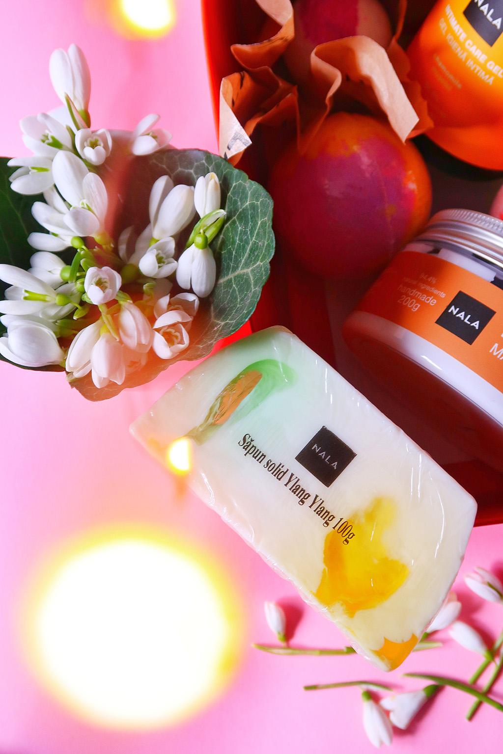 nala un cadou aromat valentine's day dragobete bombe baie gel dus intim sapun maini ingredinete naturale