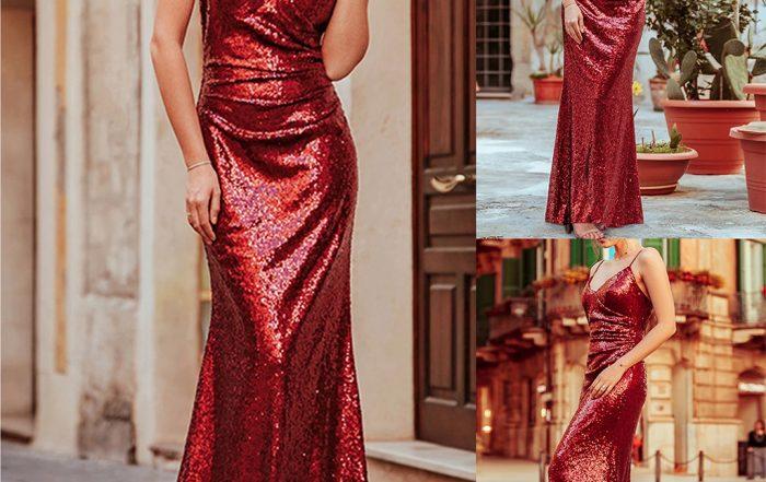 reduceri rochie rosie neagra eleganta ocazie dragobete valentines day martie