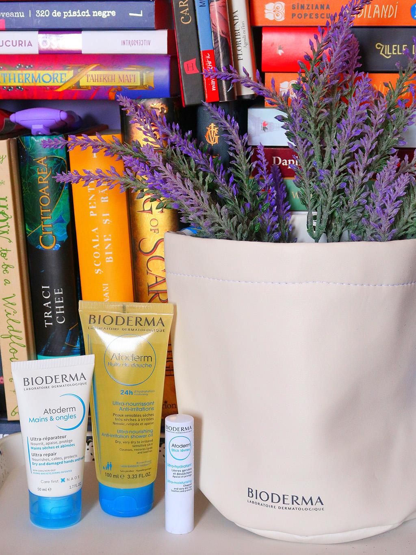 bioderma atoderm kit pentru pielea uscata balsam buze ulei corp dus crema maini