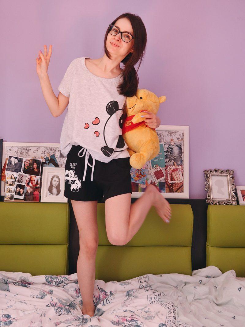 lady line pijamale colorate bumbac lamai panda pantera pentru vara