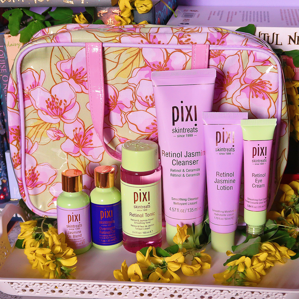pixi beauty by petra retinol jasmine collection serum tonic cleanser lotion eye cream