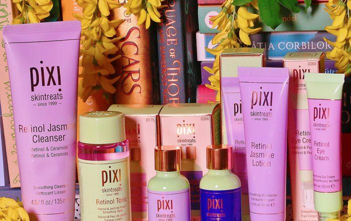 pixi beauty by petra retinol jasmine collection serum tonic cleanser lotion eye cream