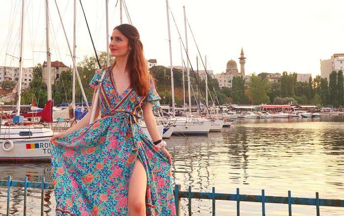 ever pretty floral dress constanta rochie florala vara portul tomis apus soare