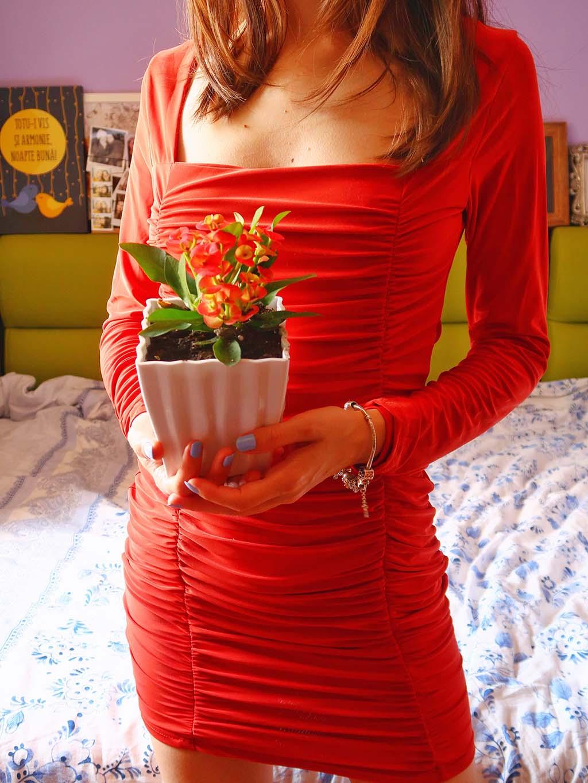 rochie ruginie maro rosie femme luxe rusty dress