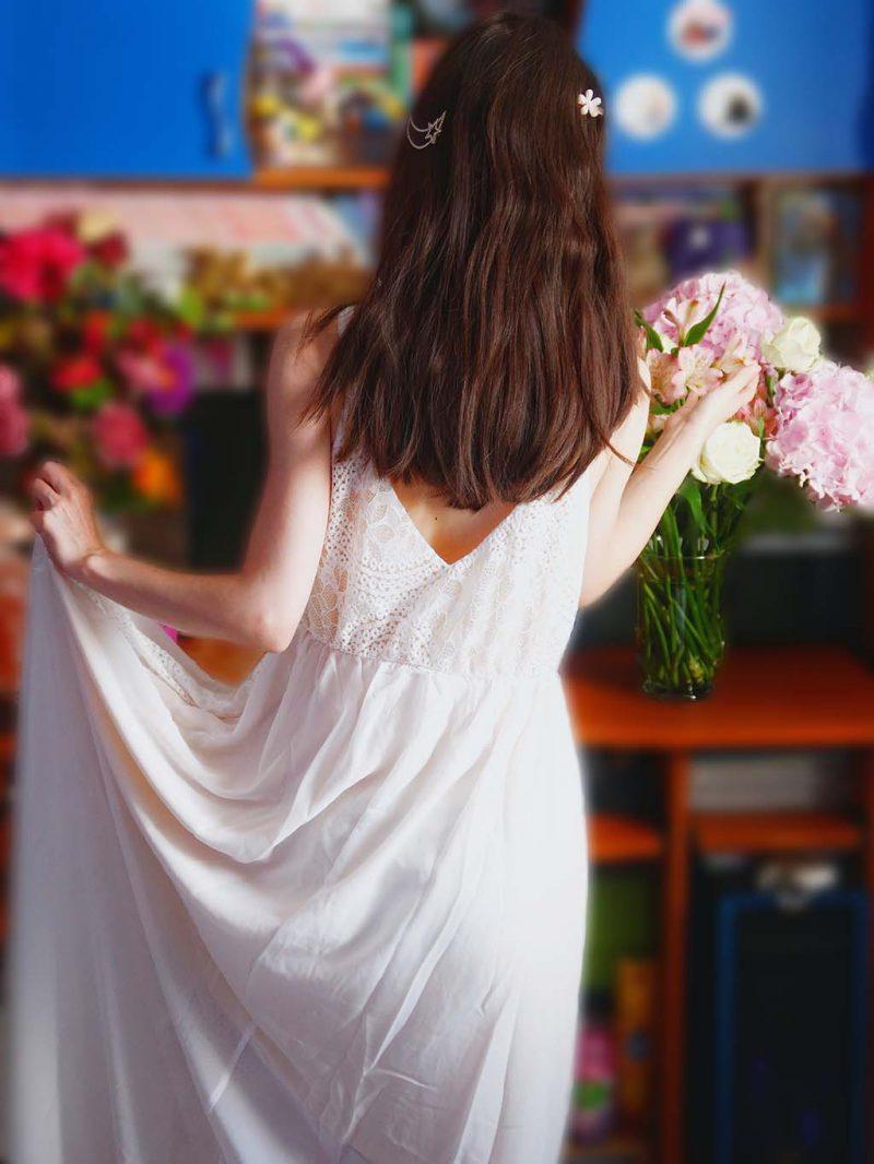 alisa pan white boho dress