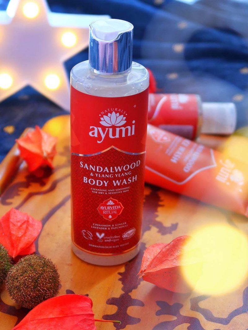 recenzie frumusete ayumi naturals gama lemn de santal sandalwood scrub gel dus cleanser lotiune tonica ulei par biocart