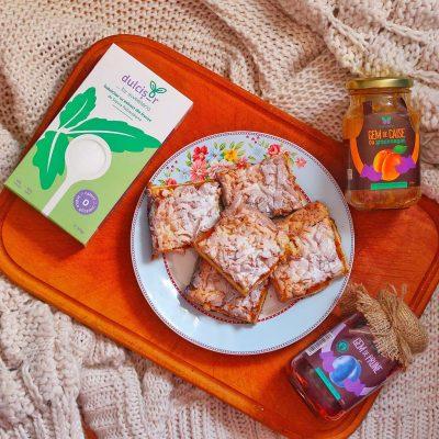sweeteria prajitura coca rasa fara zahar dulcisor indulcit natural ziua diabetului halloween consum dulciuri gem caise