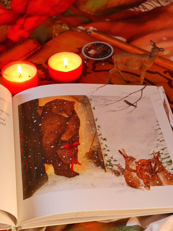 libris carti sarbatori ilustratii o soapta in zapada dorinta craciun