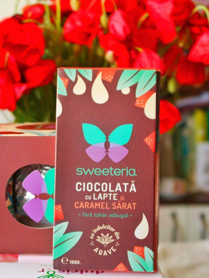 sweeteria ziua copilului iunie cadouri oua ciocolata dulciuri sanatoase fara zahar briose dulcisor indulcitor cocos stevie lapte caramel sarat agave