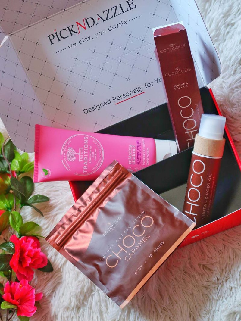 unboxing pick n dazzling summer beauty boxes cutii cutie frumusete pool day beac vacantion double box cocosolis choco scrub oil ulei treets traditions gel dus