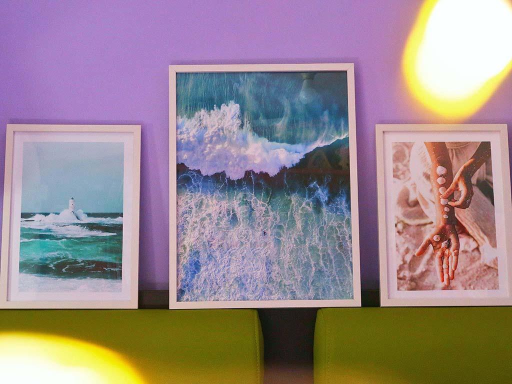 poster store tablouri rame afise postere natura mare ocean nostalgie vara printesa mov albastru verde decor camera dormitor citate