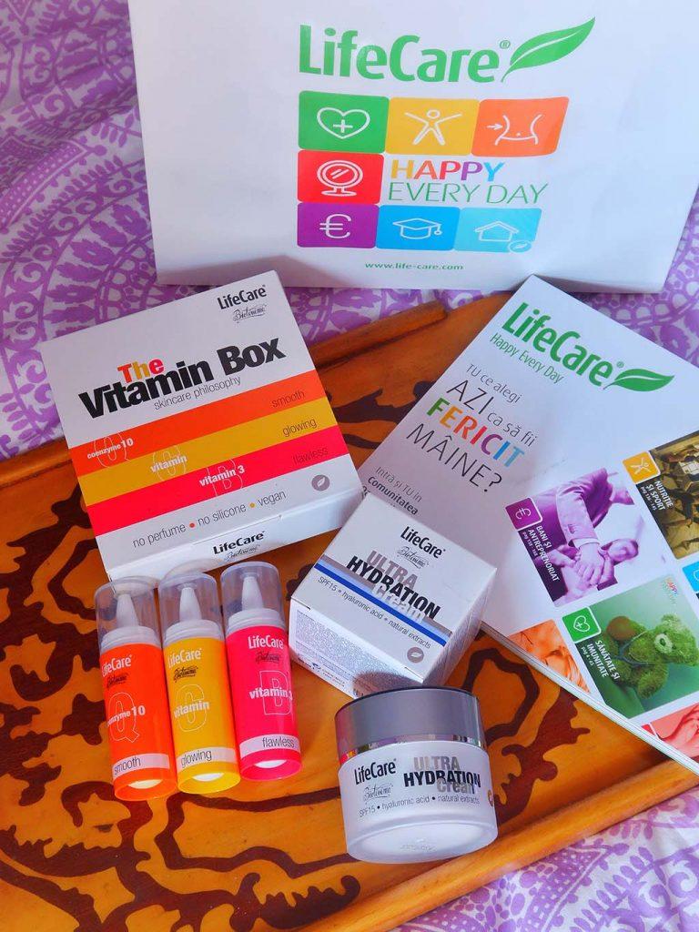 life care vitamin box seruri vitamina c coenzima q10 b3 crema spf acid hialuronic